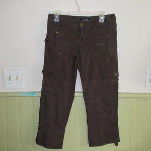APT 9 dark brown capri pants size 4